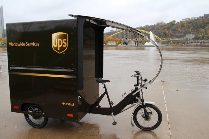 UPS bike